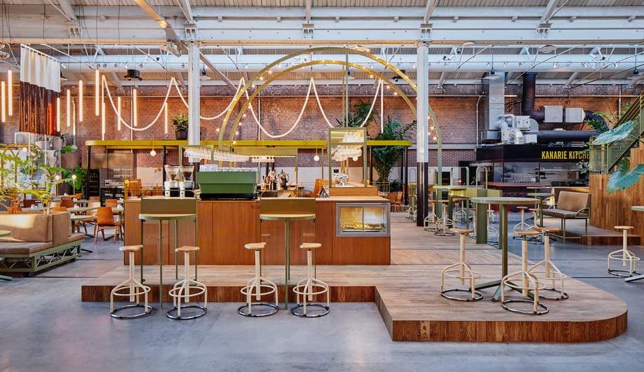A Century-Old Streetcar Depot in Amsterdam is Reborn as a Hip Restaurant