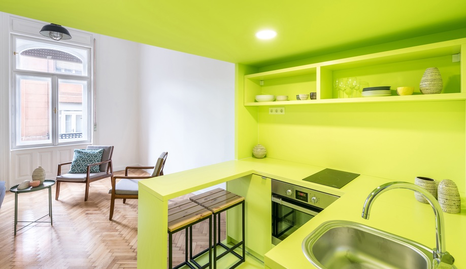 A 3-in-1 Apartment in Budapest Solves a Space Shortage