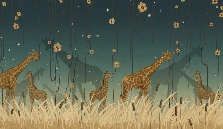 Azure-Wild-Wallpaper-Wallpepper-Giraffe