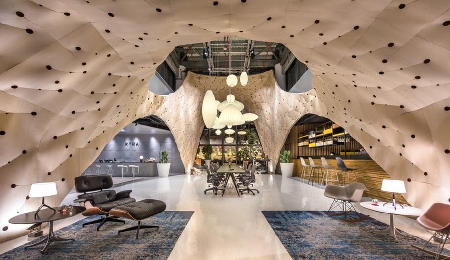 Wood interiors: Herman Miller Singapore