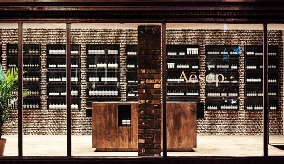 Wood interiors: Aesop Georgetown
