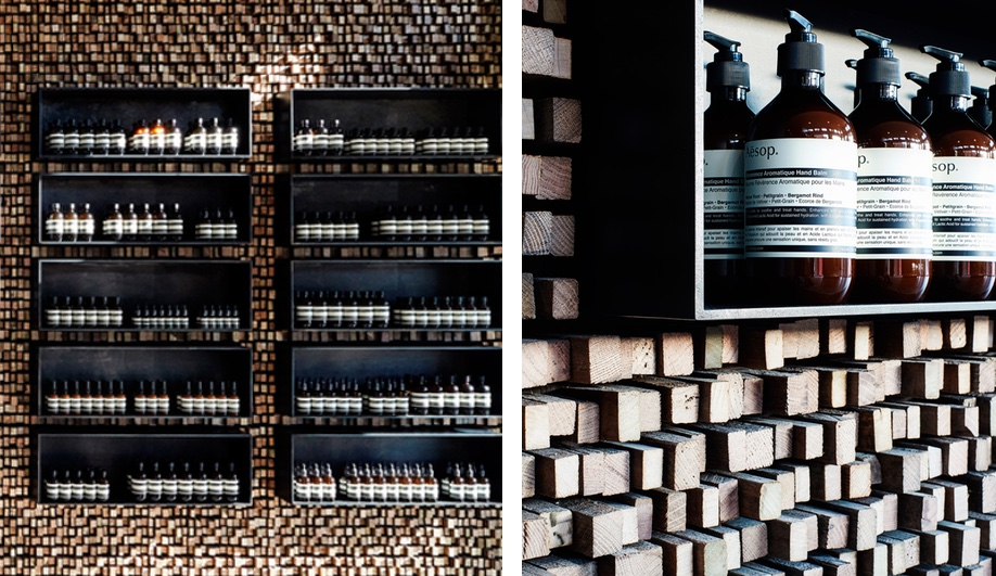 Wood interiors: Aesop Georgetown