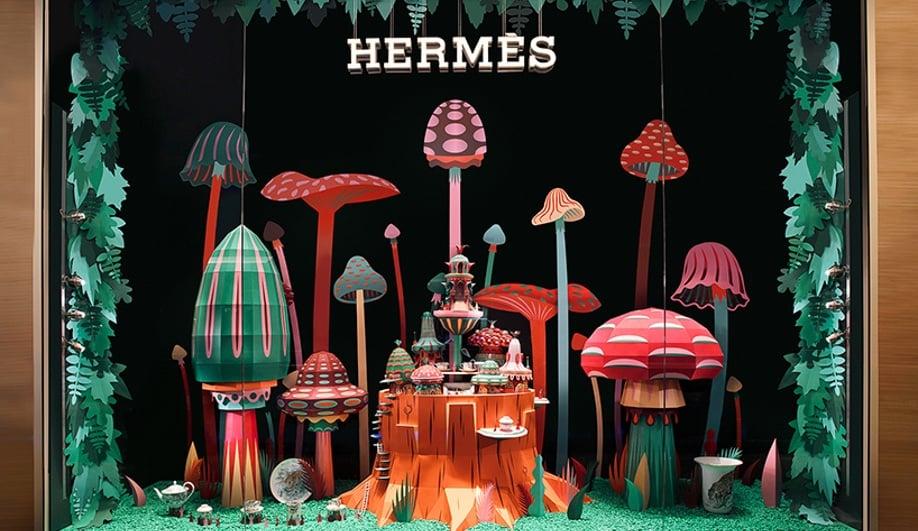 Zim & Zou Craft Colourful Worlds for a Hermès Window Display