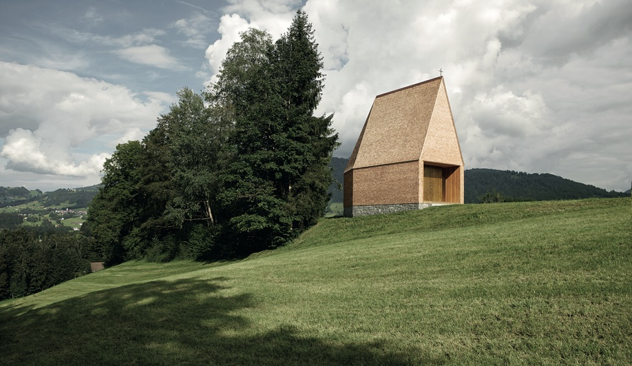 A Striking Hillside Chapel in Austria