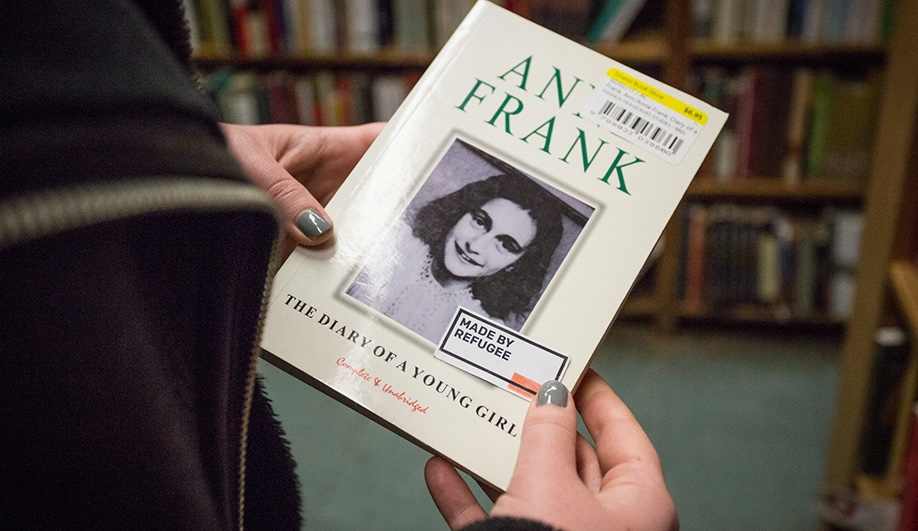 Made by refugee project: The Diary of a Young Girl by Anne Frank