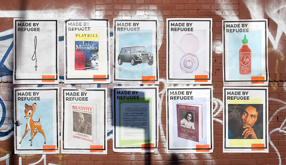 Made by refugee project posters