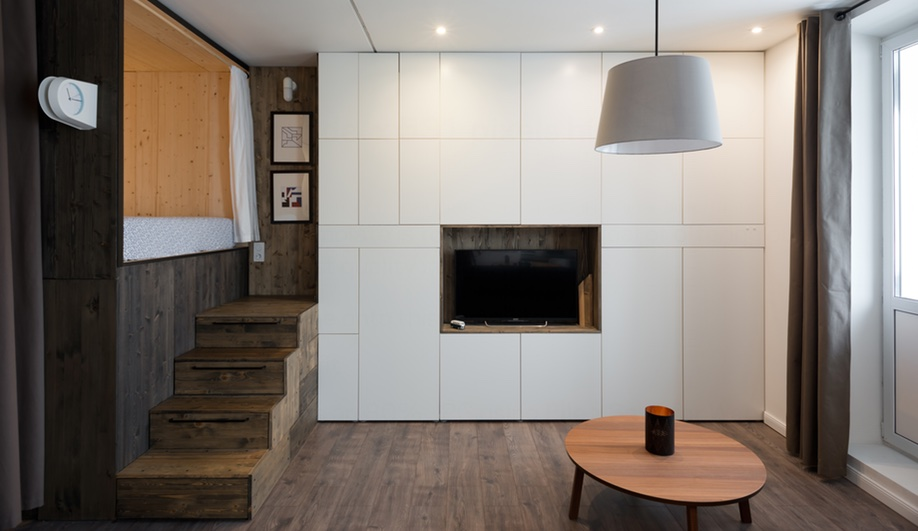 Tiny apartments: Studio Bazi