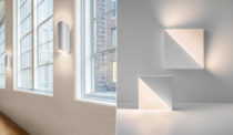 Barcelona II and Cycladic Square Lights by Richard Meier Light