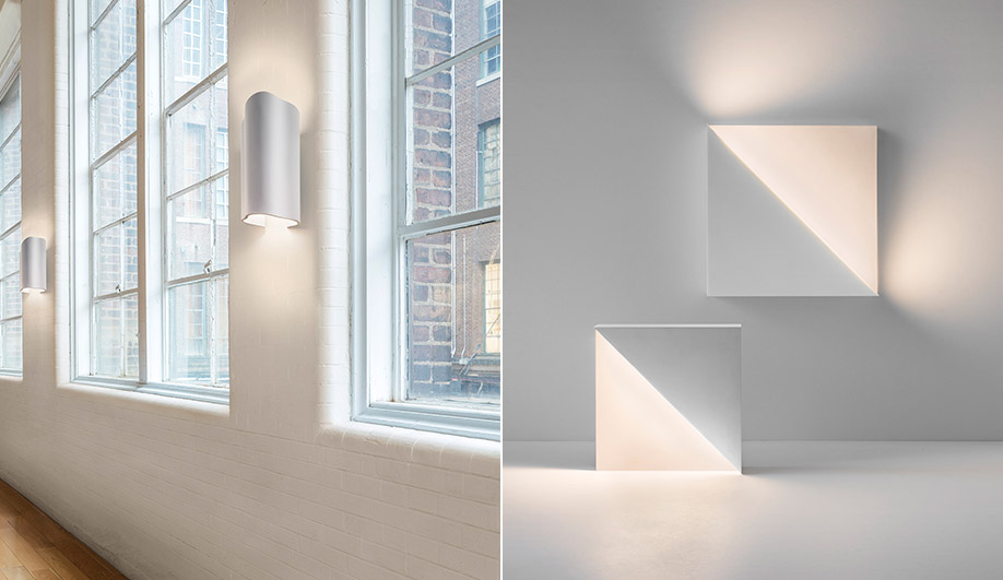 Barcelona II and Cycladic Square Lights by Richard Meier Light