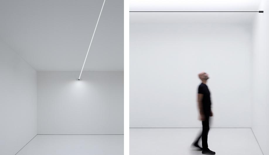 Left: Davide Groppi's Flash. Right: Infinito