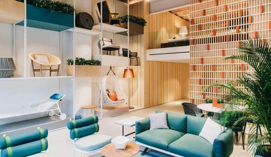 Patricia Urquiola Gives Kettal's Showroom a Mediterranean Makeover