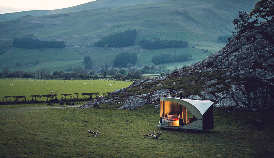 A Travelling Hotel in the Welsh Countryside