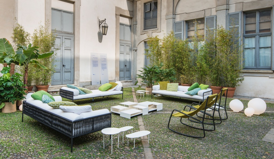 Living Divani Turns a 17th-Century Courtyard into a Modern Lounge