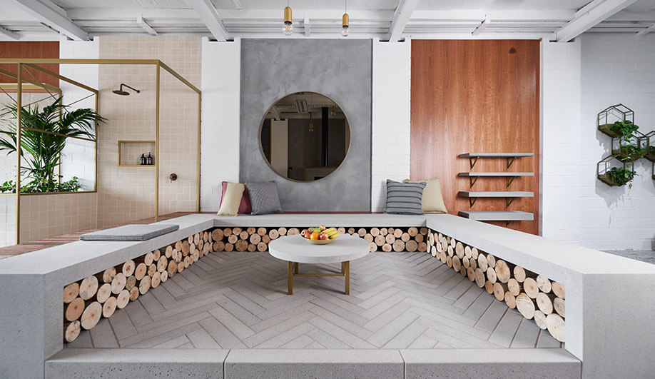 Melbourne showroom by Dan Gayfer Design shows beauty of concrete materials