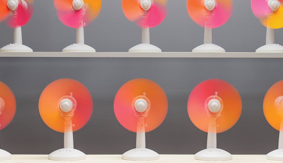 Fans is a playful take on colour blending using motion.
