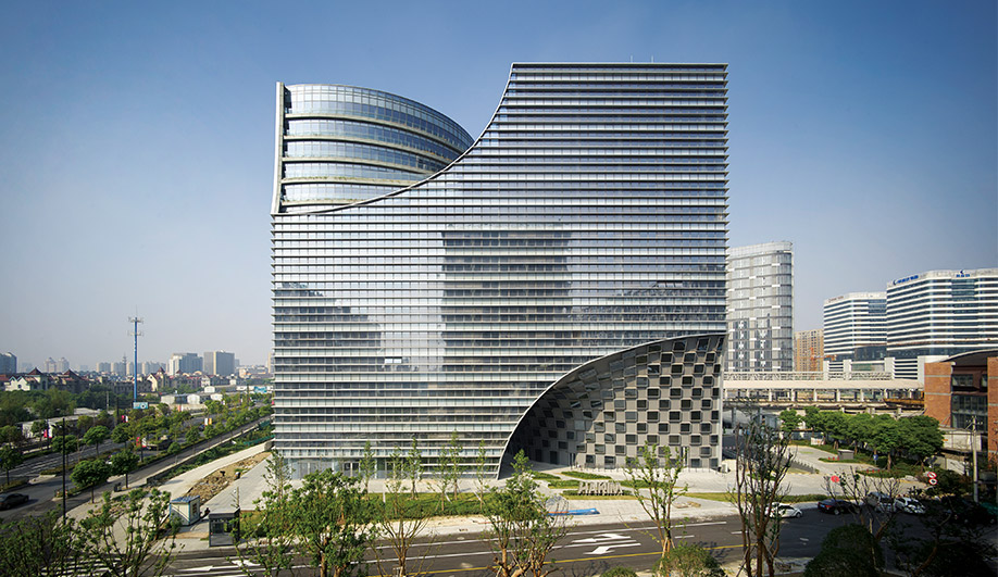 Hangzhou Gateway Is an Office Tower That Provides Public Space Instead of Taking It Away