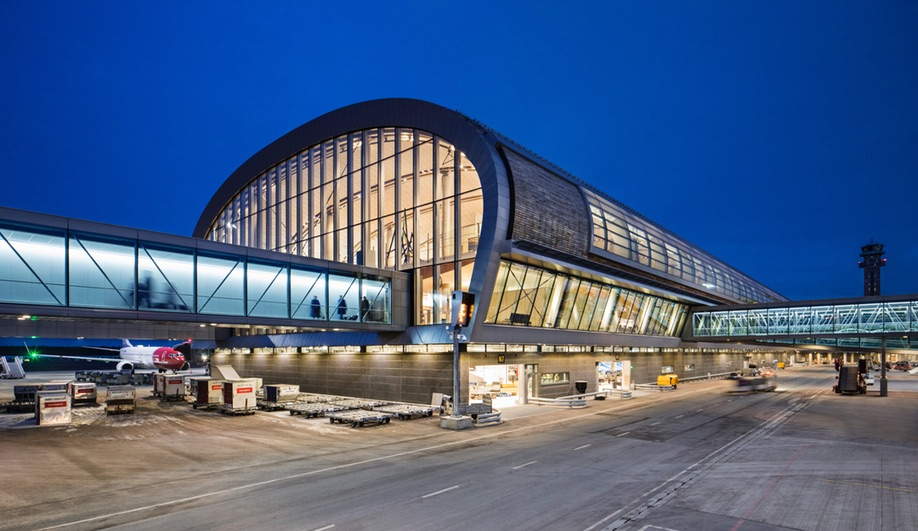 Inside the World's Greenest Airport Terminal (Featuring Two Snøhetta Bars)