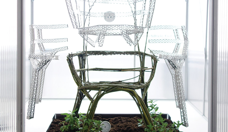 Originally created by Aisslinger in 2012, Chair Farm is a template for how furniture can be grown out of vines.