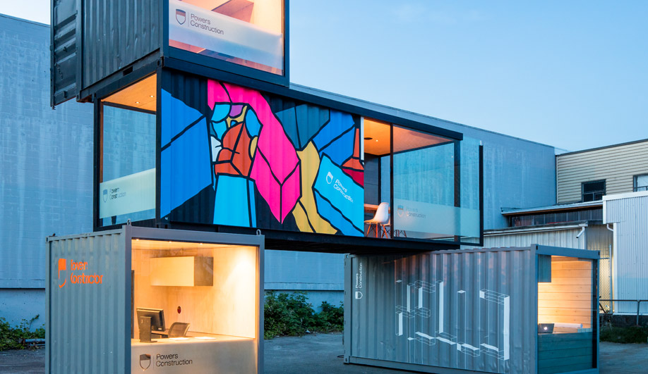 A Vancouver Construction Company Turns Shipping Containers into Sleek On-Site Offices