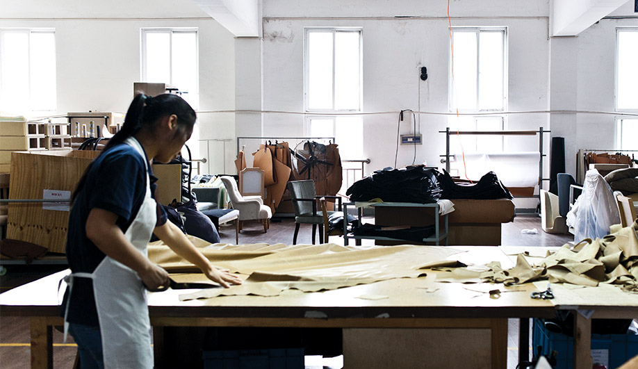 Some 200 craftspeople work at the factory, building furniture collections by the likes of Yabu Pushelberg, Neri&Hu and David Rockwell.