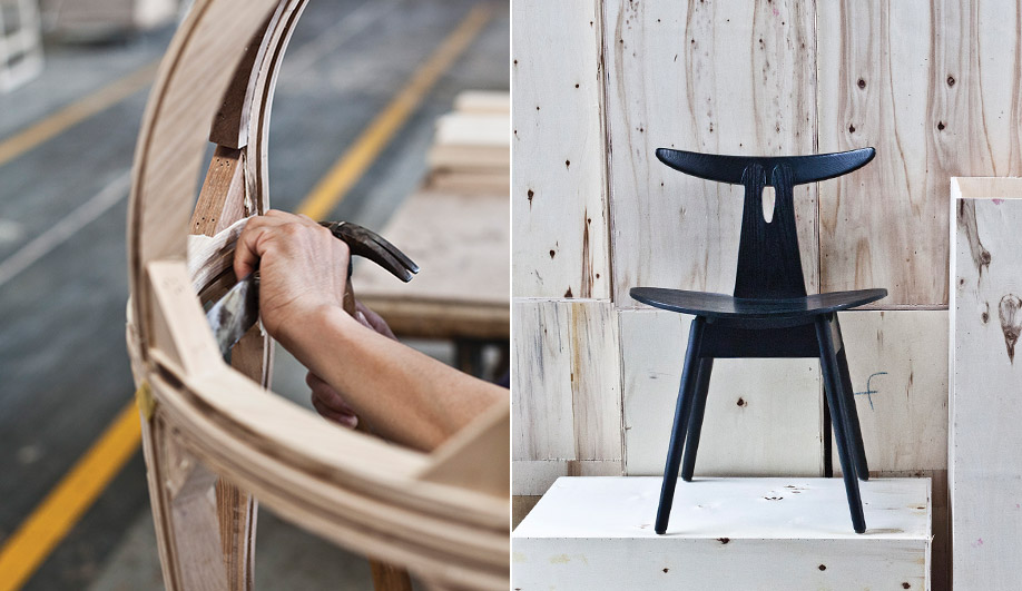 Along with its own pieces, the company also produces a line of vintage chairs by Danish architect Vilhelm Wohlert. Stellar Works founder Yuichiro Hori and creative directors Lyndon Neri and Rosanna Hu (of Neri&Hu) aim to bring the artistry of traditional Chinese and Japanese carpentry back into vogue.