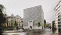 A Concrete Cube Strikes a Modern Note in Switzerland's Oldest City