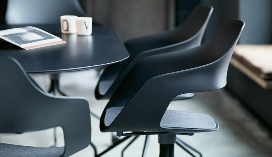 Occo Chair and Table by Wilkhahn