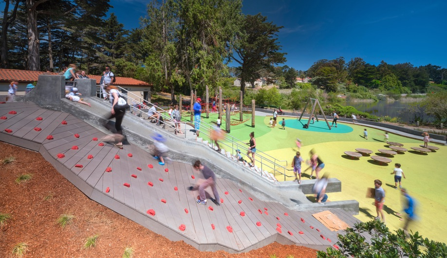 Mountain Lake Park Playground Gets a Blast of Colour
