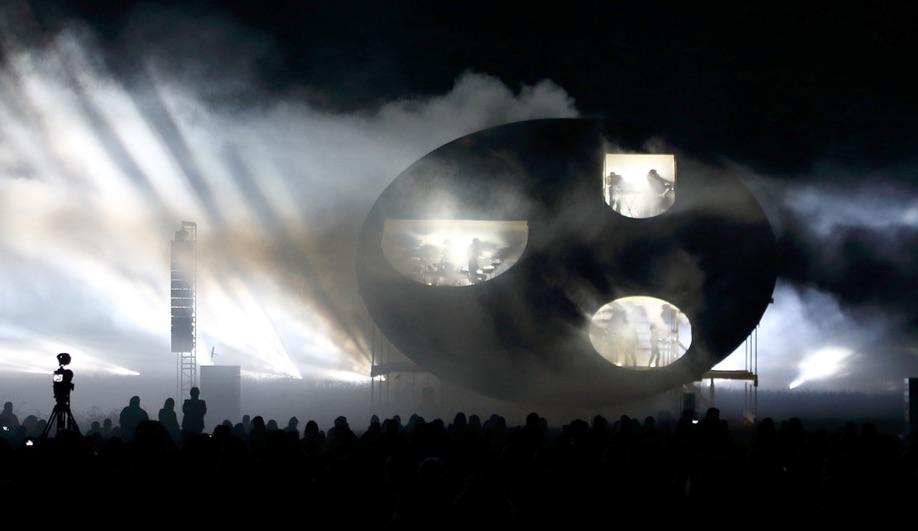 Nature Concert Hall Pavilion is a Frame for Multimedia Performances
