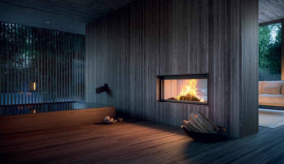 plasma fireplace by mcz azure magazine
