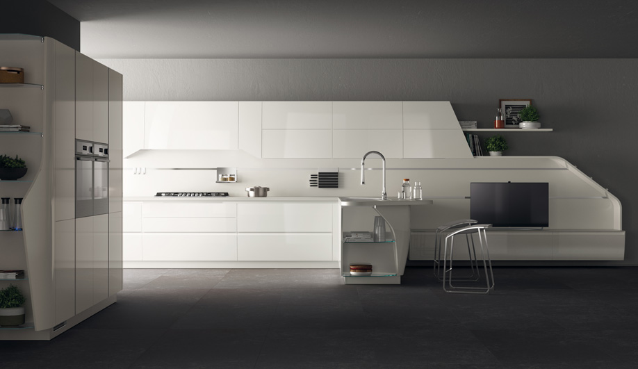 Flux Swing Kitchen System by Scavolini