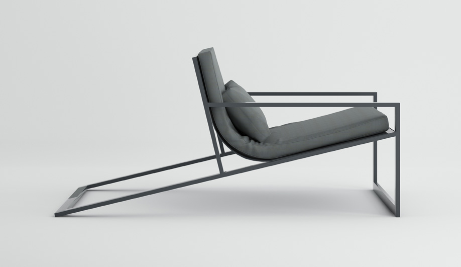Blau Singular Lounge Chair by Gandia Blasco