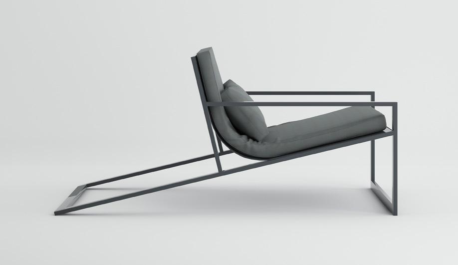 Blau Singular Lounge Chair by Gandia Blasco