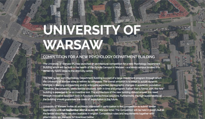 University of Warsaw Psychology Building Competition