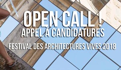 Festival des Architectures Vives 2018