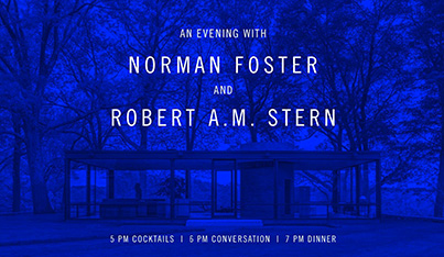 An Evening with Norman Foster and Robert A.M. Stern