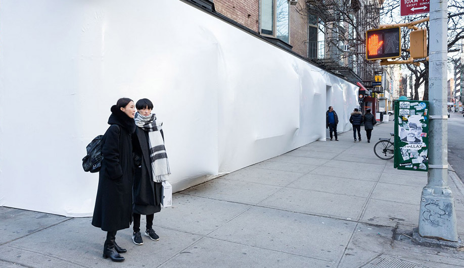 SO-IL installation, Blueprint, at Storefront for Art and Architecture, New York