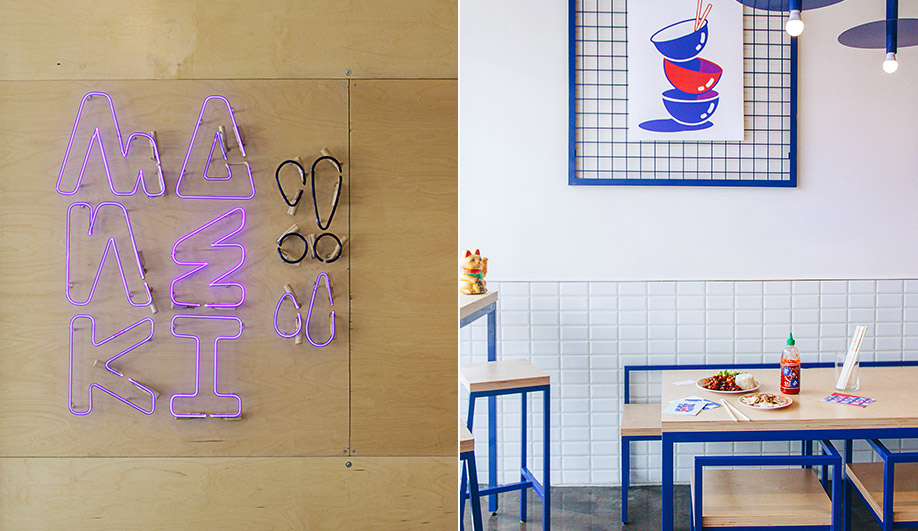 A montreal restaurant filled with asian pop culture for Interior design agency montreal
