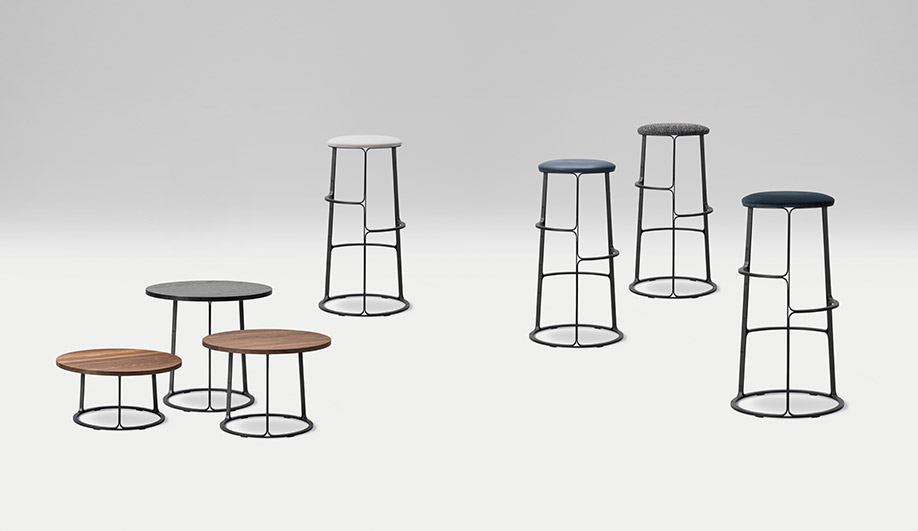 Barbry Stool and Table by Frederica