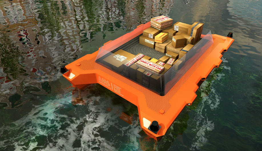 Carlo Ratti's Roboat fleet uses data to deliver parcels around Amsterdam.