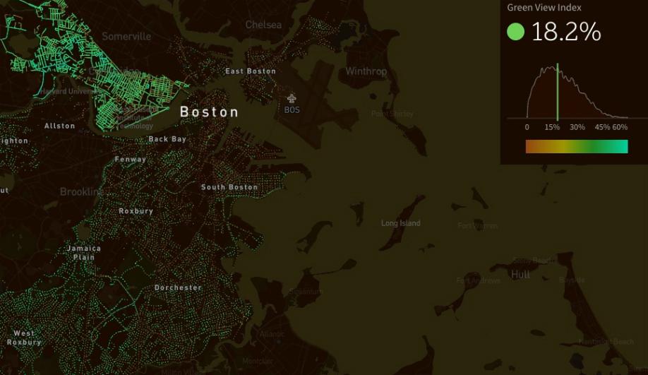 Carlo Ratti's Treepedia displays data on green canopies in cities.