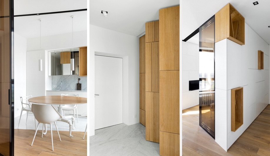 Monoloko Design tiny apartment in Moscow