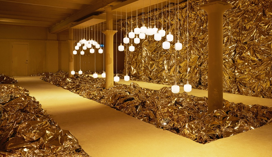 Normann Copenhagen gave its showroom a gold and yellow makeover for The Runway Issue.