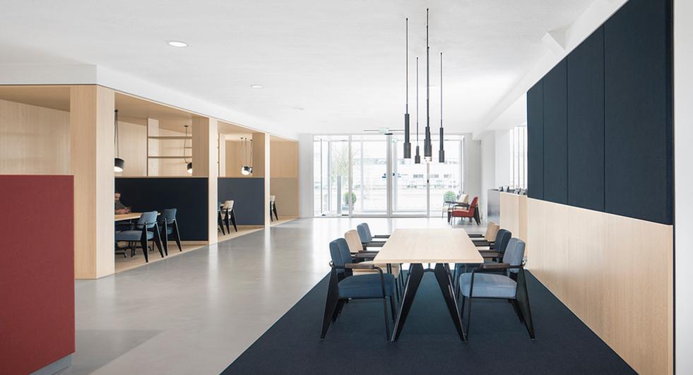 I turned a credit bureau lobby into a dutch modernist dream