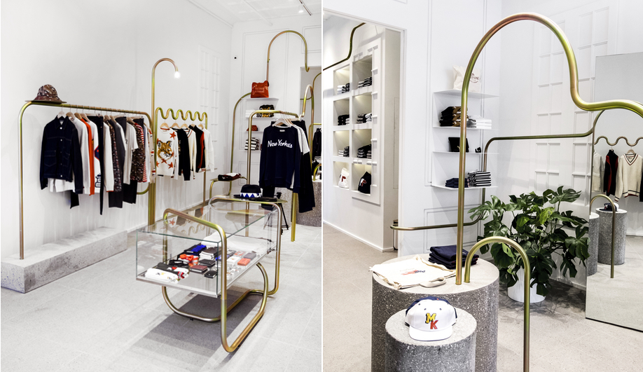 Mathieu Lehanneur created this space for Maison Kitsuné in New York.