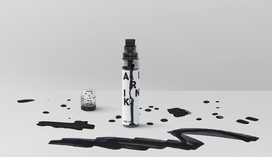 Graviky Ink uses turns air pollution into ink