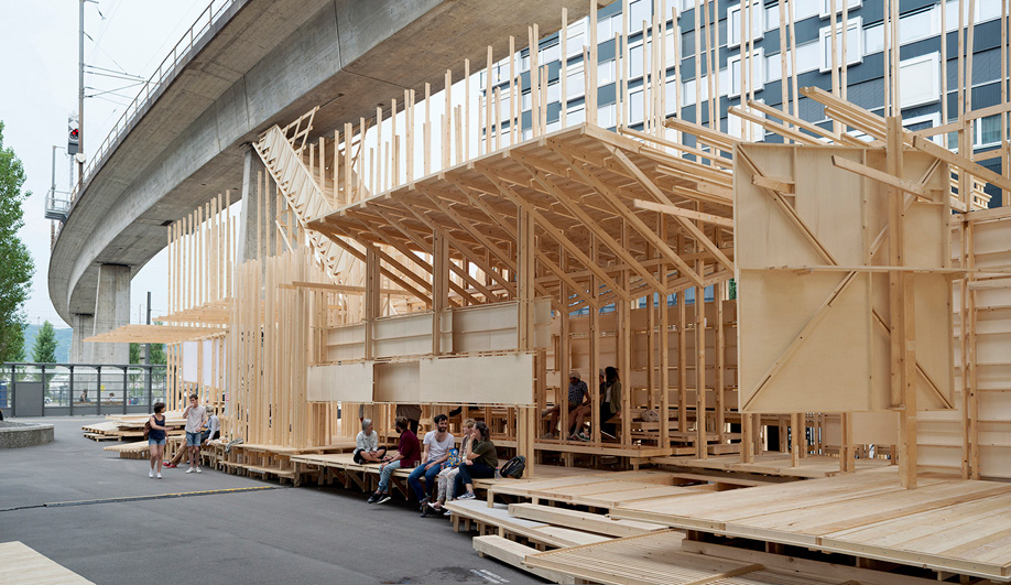 Meet House 2, a Gathering Space Built Under a Zurich Viaduct