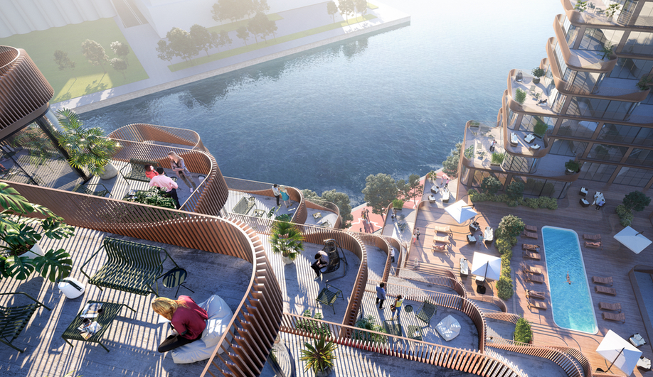 3XN Architects' Waves at Bayfront in Toronto