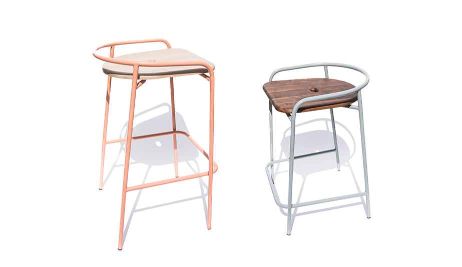 The Bender stool from Geoffrey Lilge's Div.12 collection