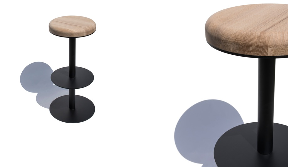 The Centric stool from Geoffrey Lilge's Div.12 collection